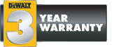 3 years warranty dewalt